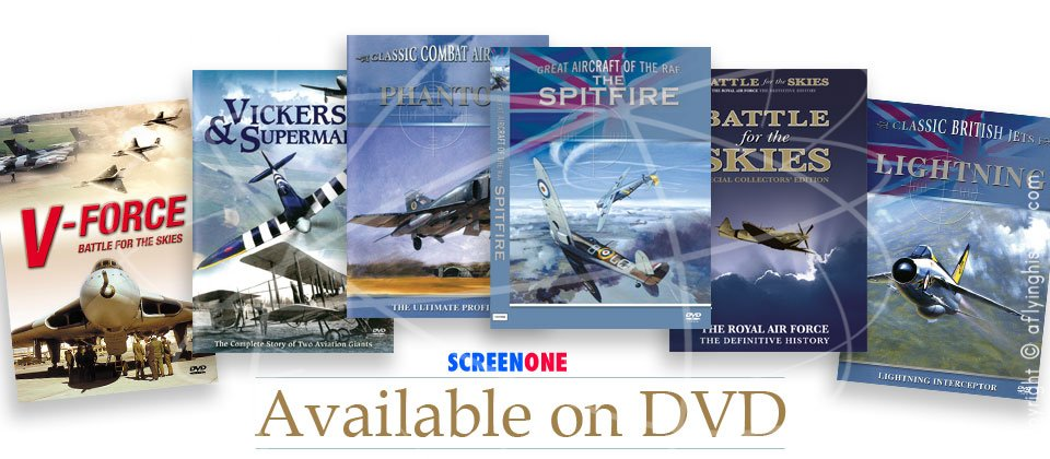 Available on DVD, Battle for the Skies, V Force Battle for the Skies, Classic Combat Aircraft Phantom,  Classic British Jets Lightning, ickers and Supermarine, Great Aircraft of the RAF - Spitfire