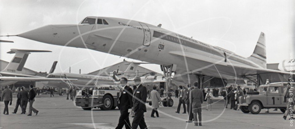 Concorde F-WTSS at the Paris Air Show in 1971