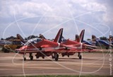 RED - BAe Systems Hawk T.1 at Fairford in 2007