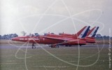 RED - Folland Gnat T.1 at Finningley in 1977