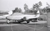 SE-CAS - Gloster Meteor T.7 at Bromma in 1972